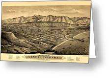 Map Of Santa Barbara 1877 Greeting Card