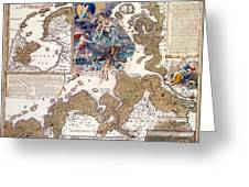 Map Of The Christmas Flood Of 1717 Greeting Card