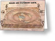 Map Of The Flat Earth Greeting Card