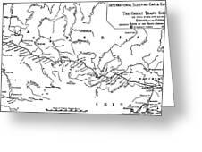Map Of The Trans-siberian Railway Greeting Card
