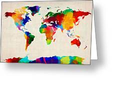 Map Of The World Map Greeting Card