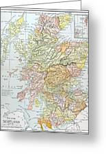 Map: Scotland Greeting Card