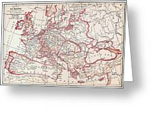 Map: Thirty Years War Greeting Card