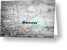 Map View For Travel To Locations And Destinations Greeting Card