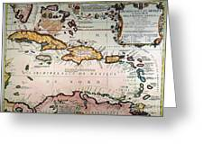 Map: West Indies Greeting Card