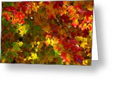 Maple Abstract Greeting Card