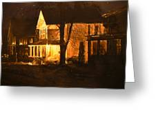 Maple Avenue Nocturne Greeting Card