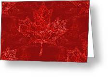 Maple Leaf Filigree Pattern Greeting Card