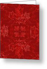 Maple Leaf Filigree Tiled Pattern Greeting Card