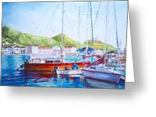 Maragot Harbor Greeting Card