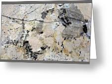 Marble Tan Black Greeting Card