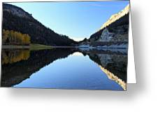 Marble Canyon Lake Reflection Greeting Card