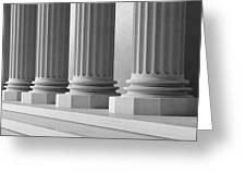 Marble Pillars Building Detail. 3d Illustration Greeting Card