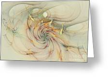 Marble Spiral Colors Greeting Card