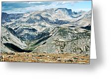 Marbled Mountains Greeting Card