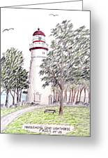 Marblehead Ohio Lighthouse Greeting Card by Frederic Kohli