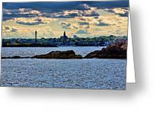Marblehead Points To The Ocean Greeting Card