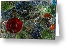 Marbles Clear Soda 2 Greeting Card