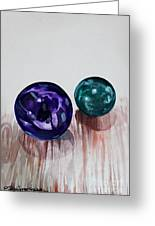 Marbles Of My Reflection Greeting Card