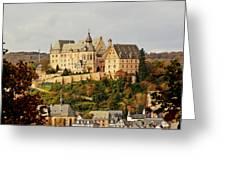 Marburg Castle Germany H B Greeting Card