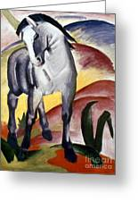 Marc: Grey Horse, 1911 Greeting Card