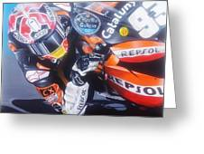 Marc Marquez Elbow Down  Greeting Card