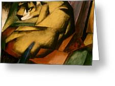 Marc: The Tiger, 1912 Greeting Card