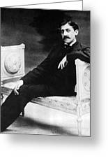 Marcel Proust, French Author Greeting Card