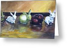 March Hares Greeting Card by Jane Loveall