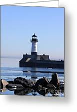 March Lghthouse Greeting Card