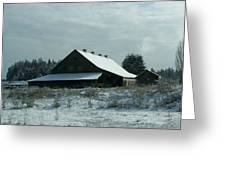 March Snows On The Barn Greeting Card