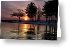 March Sunrise At Detroit Point Greeting Card