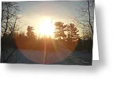 March Sunrise Circle Greeting Card