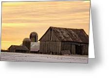 March Sunrise On The Farm Greeting Card
