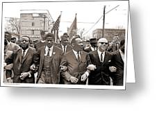 March Through Selma Greeting Card