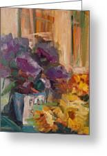 Marche' Aux Fleurs Greeting Card