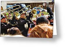 Marching Band Brass Greeting Card