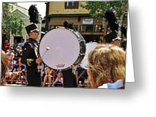 Marching Band Percussion  Greeting Card