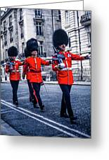 Marching Grenadier Guards Greeting Card