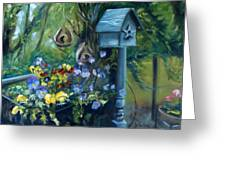 Marcia's Garden Greeting Card
