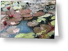 Marcia's Lillies Greeting Card