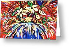 Mardi Gras Floral Explosion Greeting Card