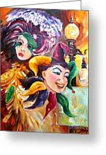 Mardi Gras Images Greeting Card by Diane Millsap