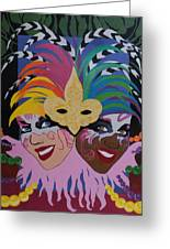 Mardi Gras In Colour Greeting Card