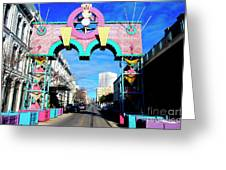 Mardi Gras In Galveston Greeting Card