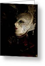 Mardi Gras Mask Greeting Card by Christopher Holmes