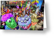 Mardi Gras Mob Greeting Card
