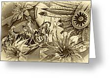 Mardi Gras - New Orleans 3 - Sepia Greeting Card
