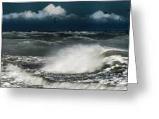 Mareggiata A Ponente - Eastern Seastorm Greeting Card