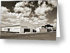 Marfa Ballroom In Sepia Greeting Card